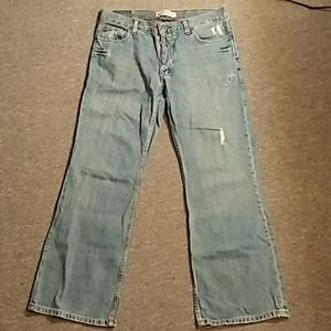 Mens Old Navy Low-Rise, Boot Cut Button Fly Jeans